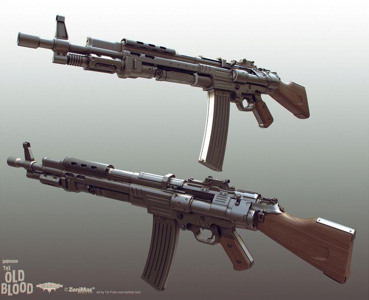 Wolfenstein: Old Blood Rifle, Tor Frick on ArtStation at https://www.artstation.com/artwork/wolfenstein-old-blood-rifle