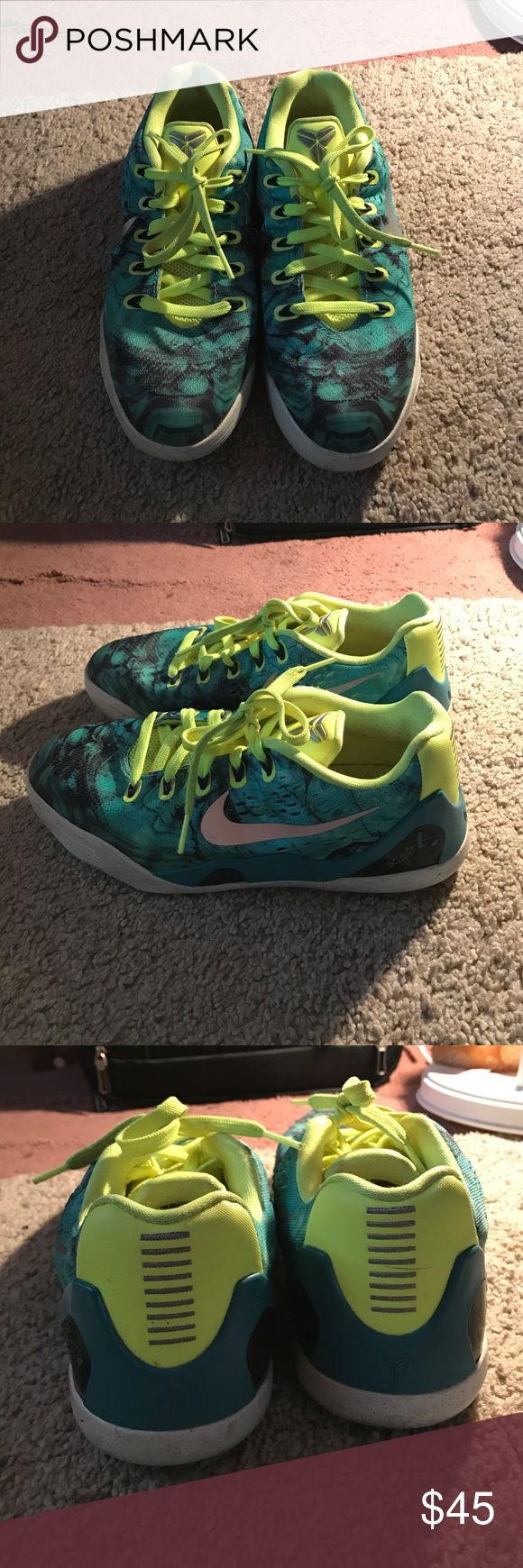 Authentic Kobe sneakers Black, green and yellow athletic shoes (size : 7 women , 5.5 men ) Shoes Sneakers