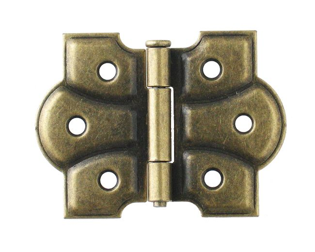 Butterfly Hinge Pair, Antique Brass Finish