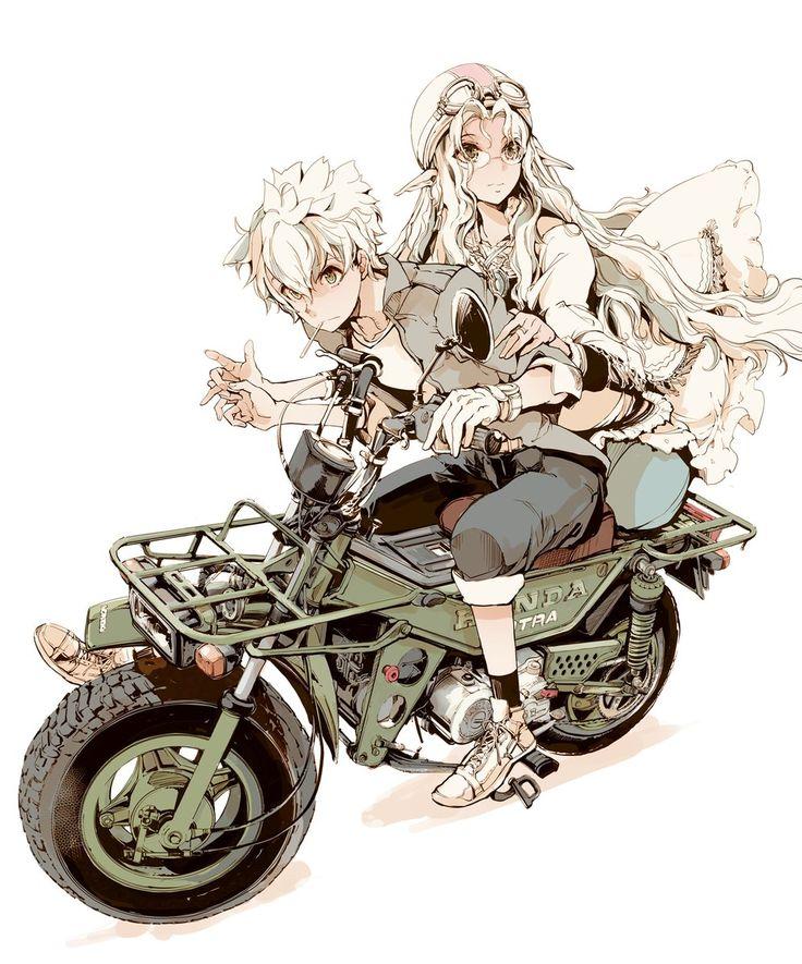 Twitter@ノルンさんとモトラ #バイクの日