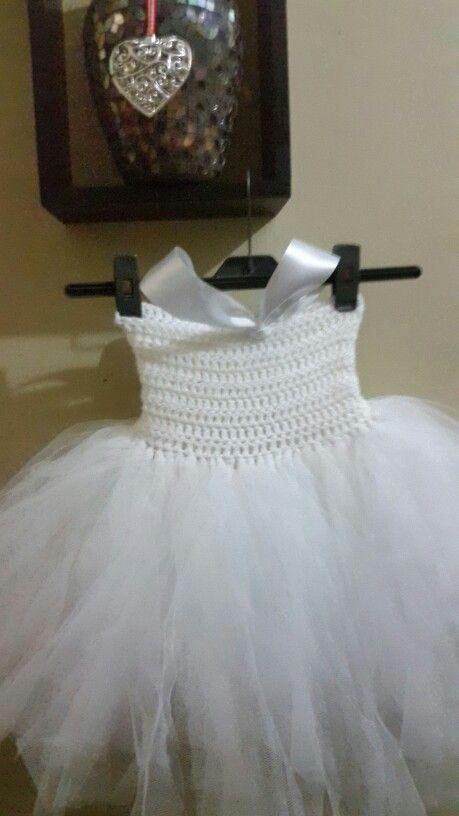 Cristening crochet tutu dress woolandtutu@gmail.com