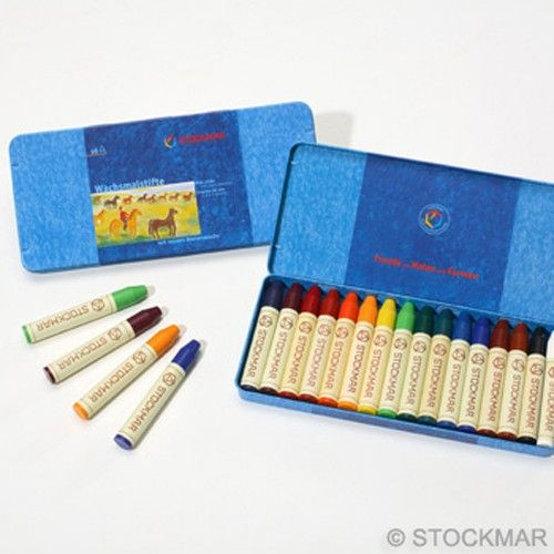 Stockmar Beeswax Crayons are imported from Germany. These high quality beeswax crayons are used in Waldorf schools worldwide. With their vivid colors and pleasant fragrance, Stockmar Beeswax Crayons appeal to a child's senses. The quality of these crayons is outstanding (no crumbling, sticking, smudging, etc.), and they are completely non-toxic. $26.95