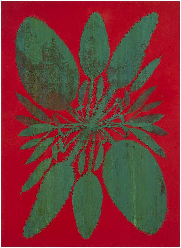 Philip Taaffe Double Acrosticum (Vermilion), 2014 Mixed media on canvas 193.7 x 141 cm