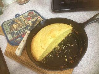 Grammy Blick's Favorite Recipes: Cornbread - Small Batch, Small Cast Iron Skillet