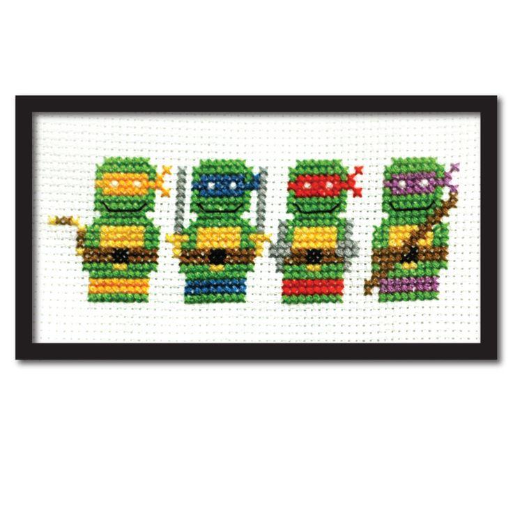 Teenage Mutant Ninja Turtles Modern Cross Stitch