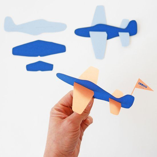 Make these easy and fun paper plane toys! Free printable template included.