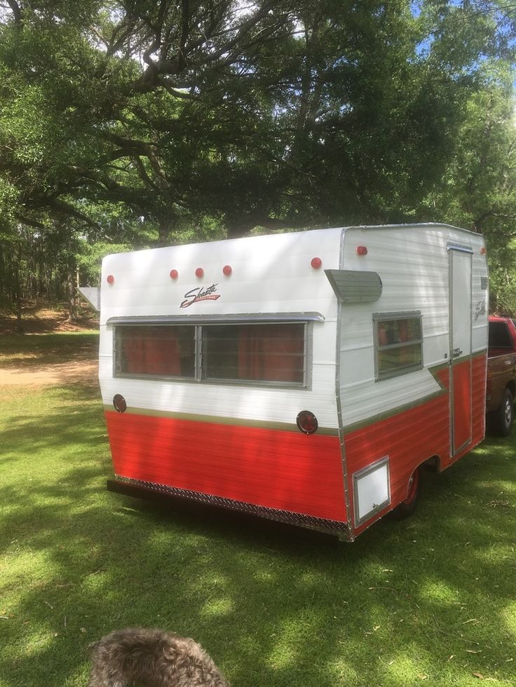 1969 Shasta Compact vintage camper trailer, 12' long