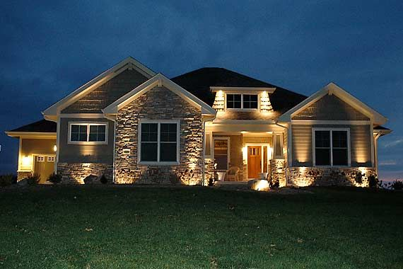 craftsman ranch home stone exteriors craftsman cottage exterior at night future home pinterest craftsman ranch craftsman cottage and stone exterior - Ranch Home Exterior