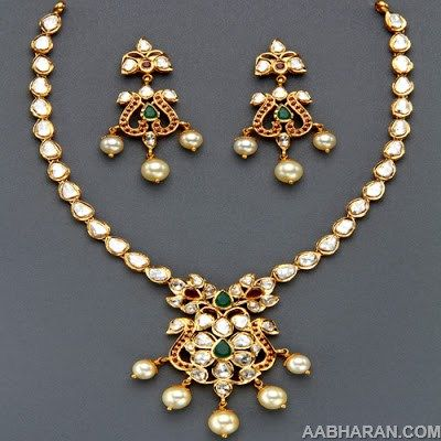 Bridal Necklace - Indian Jewellery Designs South Jewellery