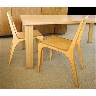 Case Study Tenon Dining Room Table & Chairs in Natural Finish.