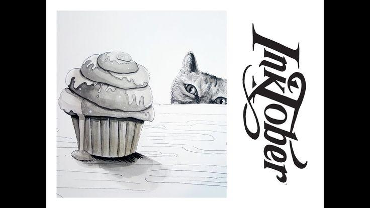 INKTOBER 2016 #4: HUNGRY  Youtube   Matilda Fryxell   Art  https://www.youtube.com/channel/UCE98xyWOGdPO6Z7z1QkOgjA