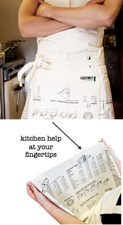 Housewarming Gifts For Men in the Kitchen:  Apron Cooking Guide @ Amazon  -- The apron is printed with cooking guidelines that include numeric conversions, cooking times, roasting times, freezing instructions, defrosting times, a cooking glossary & more.
