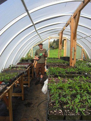 Fiddle Head Farm shows you how to make a propagation hoop-house.