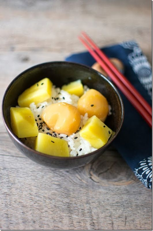 Chestnut and Sweet Potato Steamed Rice