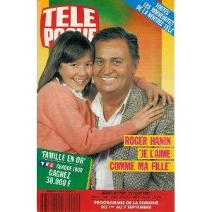 """Roger Hanin et Emmanuelle Boidron : """"Je l'aime comme ma fille"""", dans Télé Poche n°1281 du 27/08/1990 [couverture mise en vente par Presse-Mémoire]"""