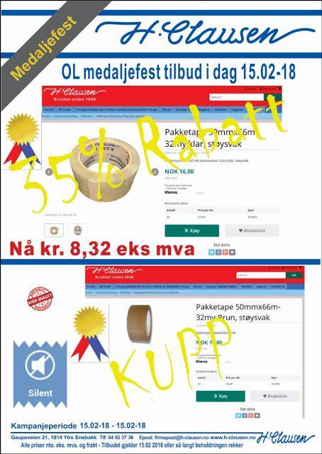 H. Clausen AS: OL Medaljefest tilbud 15.02-18 H. Clausen AS