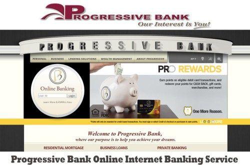 Progressive Bank Online Internet Banking Service - Tecteem
