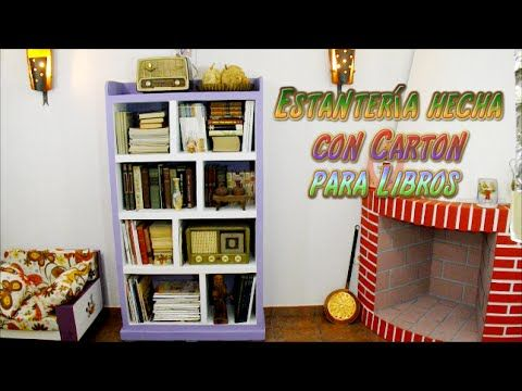 Diy estanter a hecha con cart n para libros tutoriales for Libro para hacer muebles