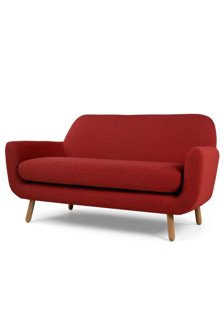 Das Jonah 2 Sitzer Sofa In Ketchuprot Ist Modern Und Retro, Elegant Und