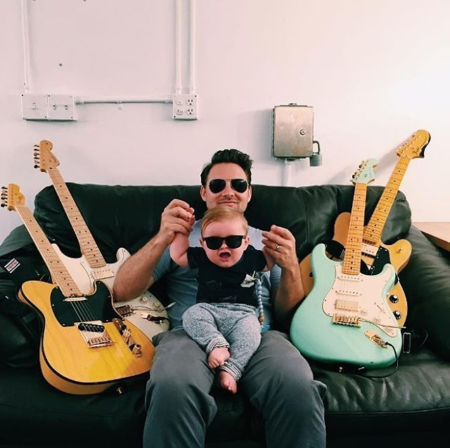 Probably one of the coolest #Fender #dads...  #kidswhorock
