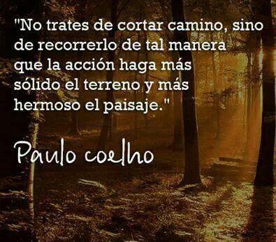 Paulo Coelho #Coelho #camino #paisaje #aprendizaje