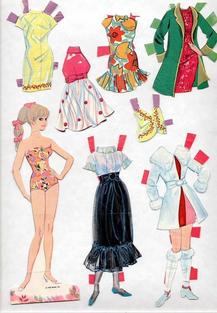 Unusual image within printable barbie paper dolls