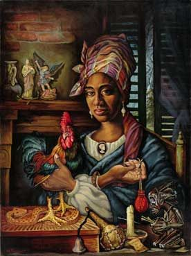 The face of Marie Laveau.......infamous Voo-Doo Queen........by demitri fouquet...i