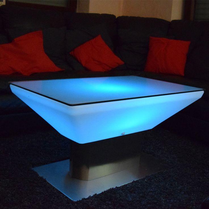 Elegant LED Shisha Couchtisch Loungetisch Leuchtender Tisch Bar Beistelltisch mit Glas in M bel u Wohnen M bel
