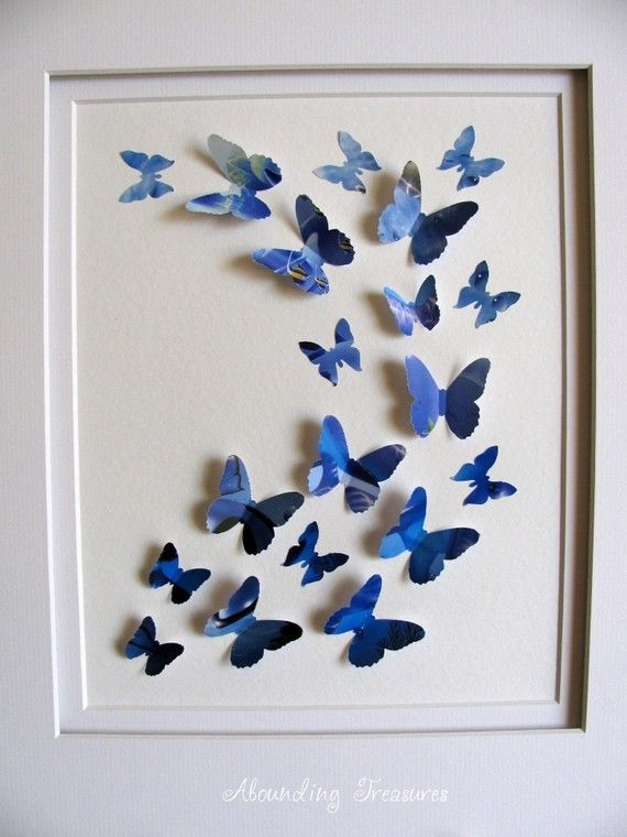 blue butterfly art