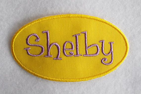 Name Patch Name Applique Personalized Patch Personalized
