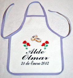 "Decorative Mini Aprons for Wine Bottles 5""x7"" for ¾ l. bottles - TCP01 6""x7"" for 1 l. bottles - TCP02"