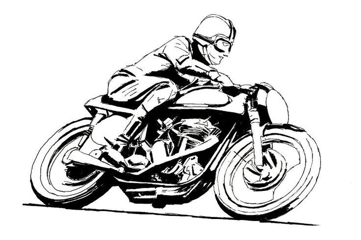 Vintage Cafe Racer Motorcycle Art Poster Print Style A 24x36 | eBay