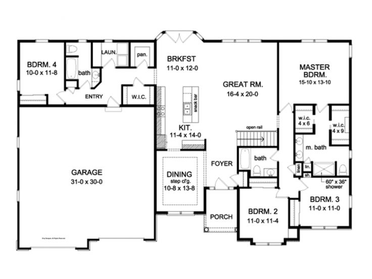 4 3 2300 sq ft house plans pinterest ranch exterior for 2300 square foot house plans