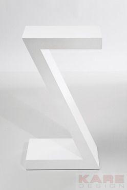 Side Table Z White 30x20cm by KARE Design #white #bianco #weiß #table #sidetable #blanc #blanco #KARE #KAREDesign