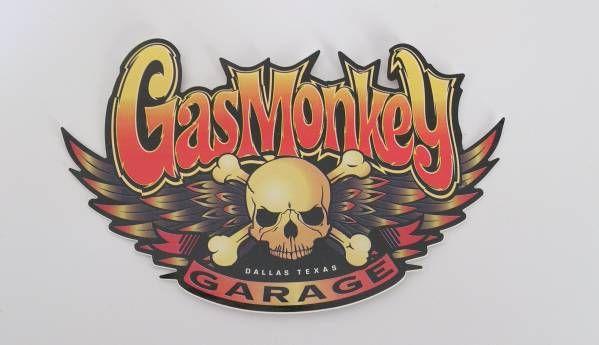 ガスモンキーガレージ GasMonkeyGarage カラースカルステッカー_画像2