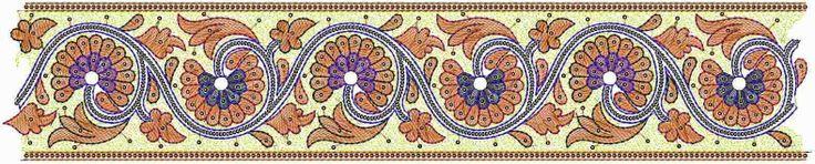 Lig gekleurde blomme ontwerp in Kant grens