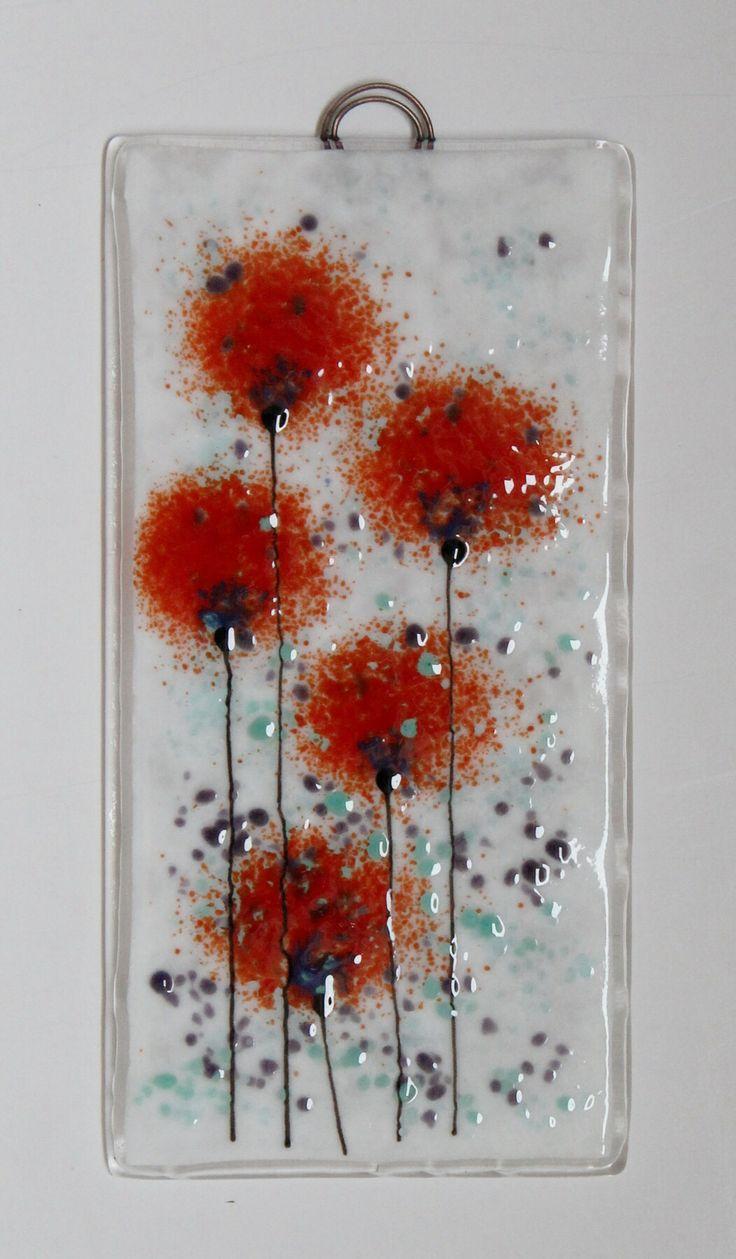 Fused glass wall plaque panel. #fusedglass #artglass #wallart #interiordesign www.firedcreations.co.uk