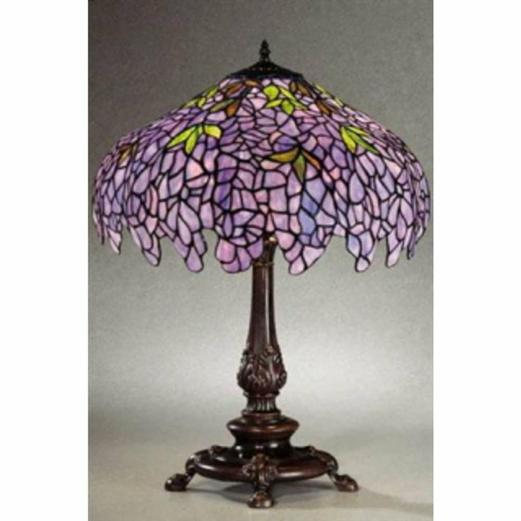 Chloe Lighting CH16828P TL2 Tiffany Style Wisteria 2 Light Table Lamp With  16