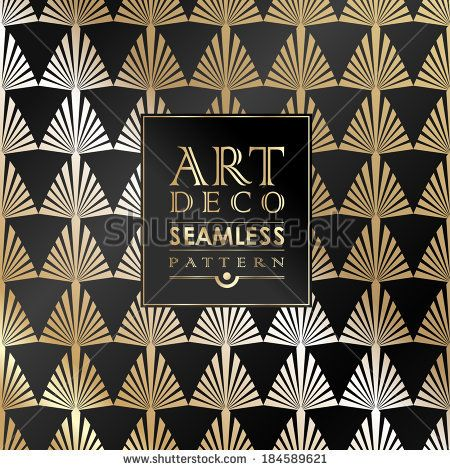 Art Deco vintage wallpaper pattern can be used for invitation, congratulation