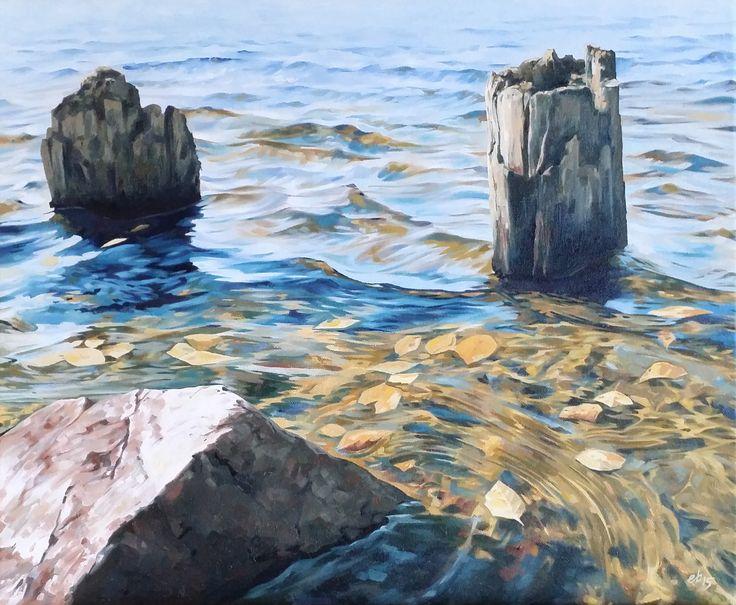 Höstvatten.  #målning #oljemålning #oljemålningar #konst #erikspalett #painting #oilpainting #oilpaintings #art #artist #sweden #härnösand #häggdånger #oil #colors #oilcolor #colour #oilcolour