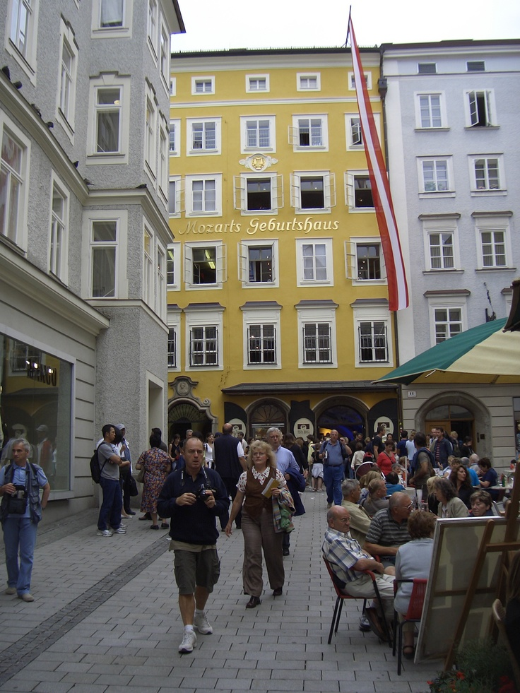 Salzburg, Austria. I believe we sat at this cafe...