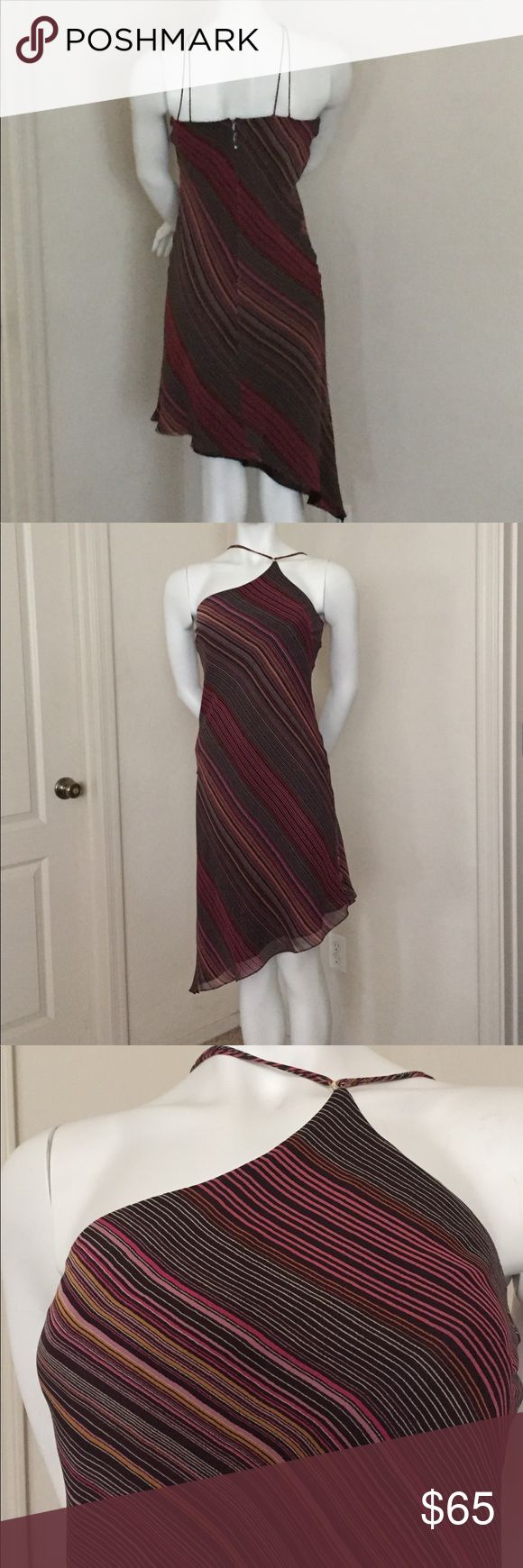 Kay Unger spaghetti strap asymmetrical dress Kay Unger spaghetti strap asymmetrical dress . Fully lined with 3 button back closure. EUC Kay Unger Dresses Asymmetrical