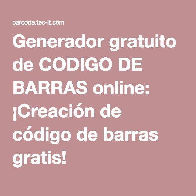 Generador gratuito de CODIGO DE BARRAS online: ¡Creación de código de barras gratis!