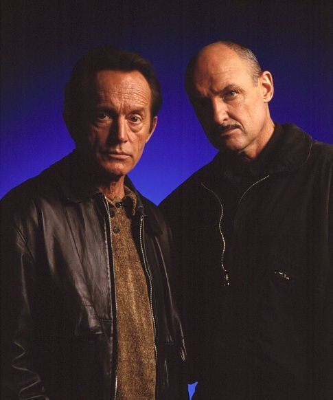 Lance Henriksen and Terry O'Quinn in Millennium - as dark as network TV has ever gotten.