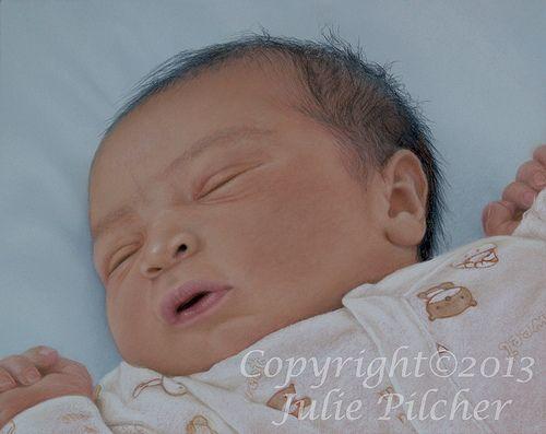 Newborn Baby by Julie Pilcher - Artist www.juliepilcher.co.uk
