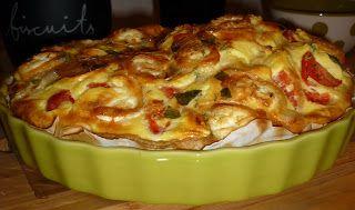 Une souris dans ma cuisine, le blog d'Elise: Ma tarte soufflée aux fromages - avec plein de légumes inside -