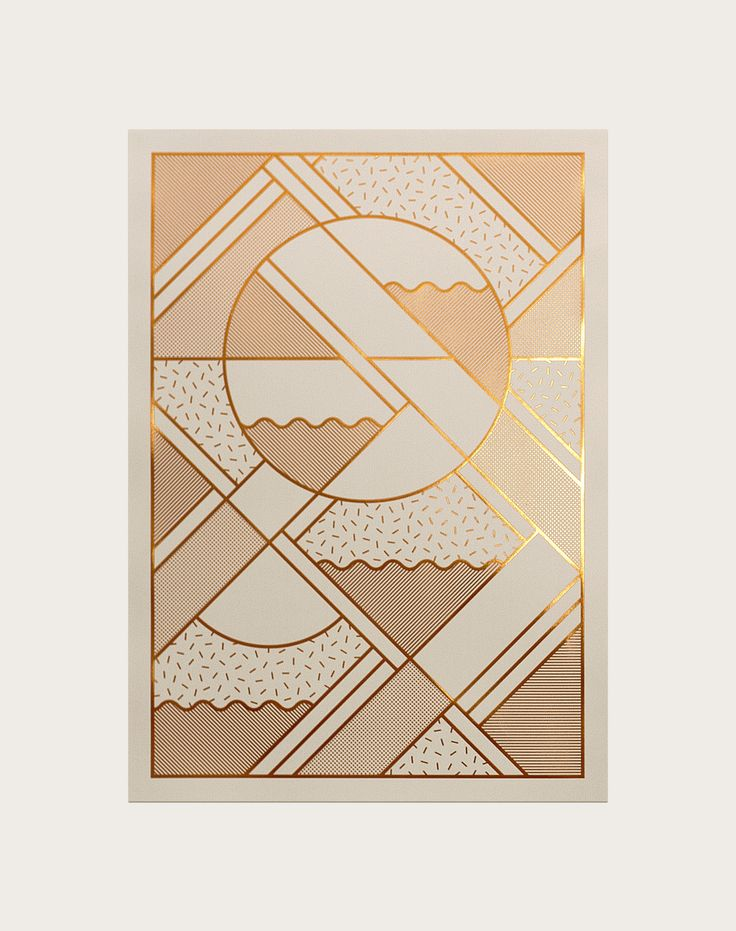 Art print embossed with copper foil (edition of 200) by Kristina Krogh. www.kkrogh.dk