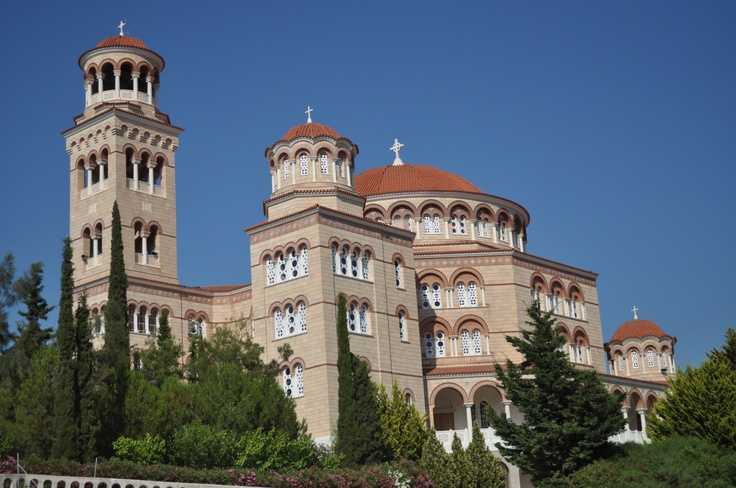 The Monastery of Agios Nektarios in Aegina, Greece