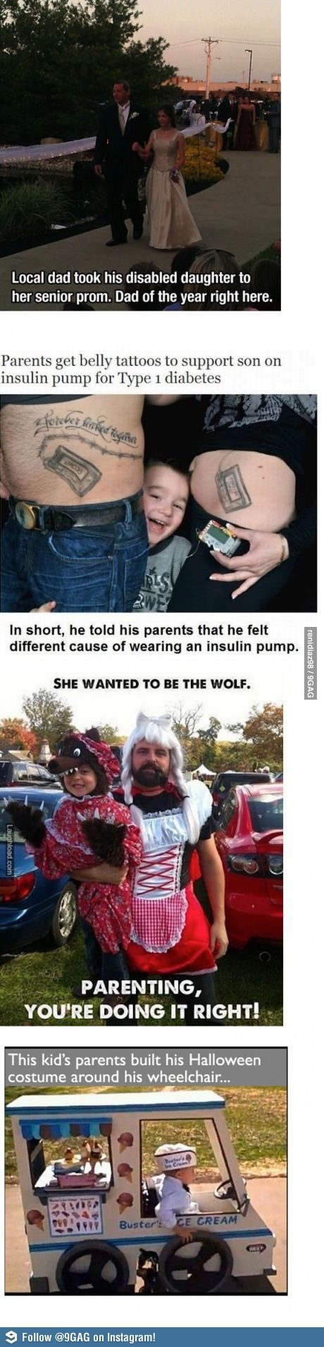Parenting... you're doing it right! The one where she wanted to be the wolf is just fantastic.