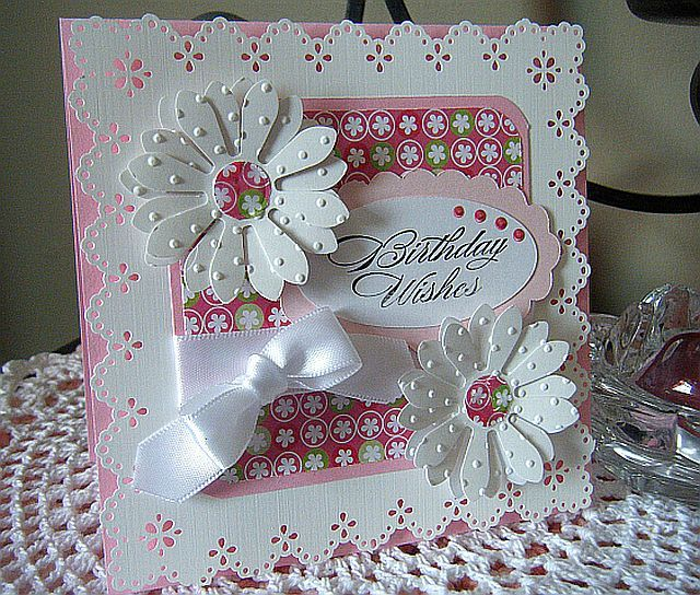 These sets of ladies birthday cards were made using a technique to give the appearance that the paper has been sewn together. Description from pinterest.com. I searched for this on bing.com/images